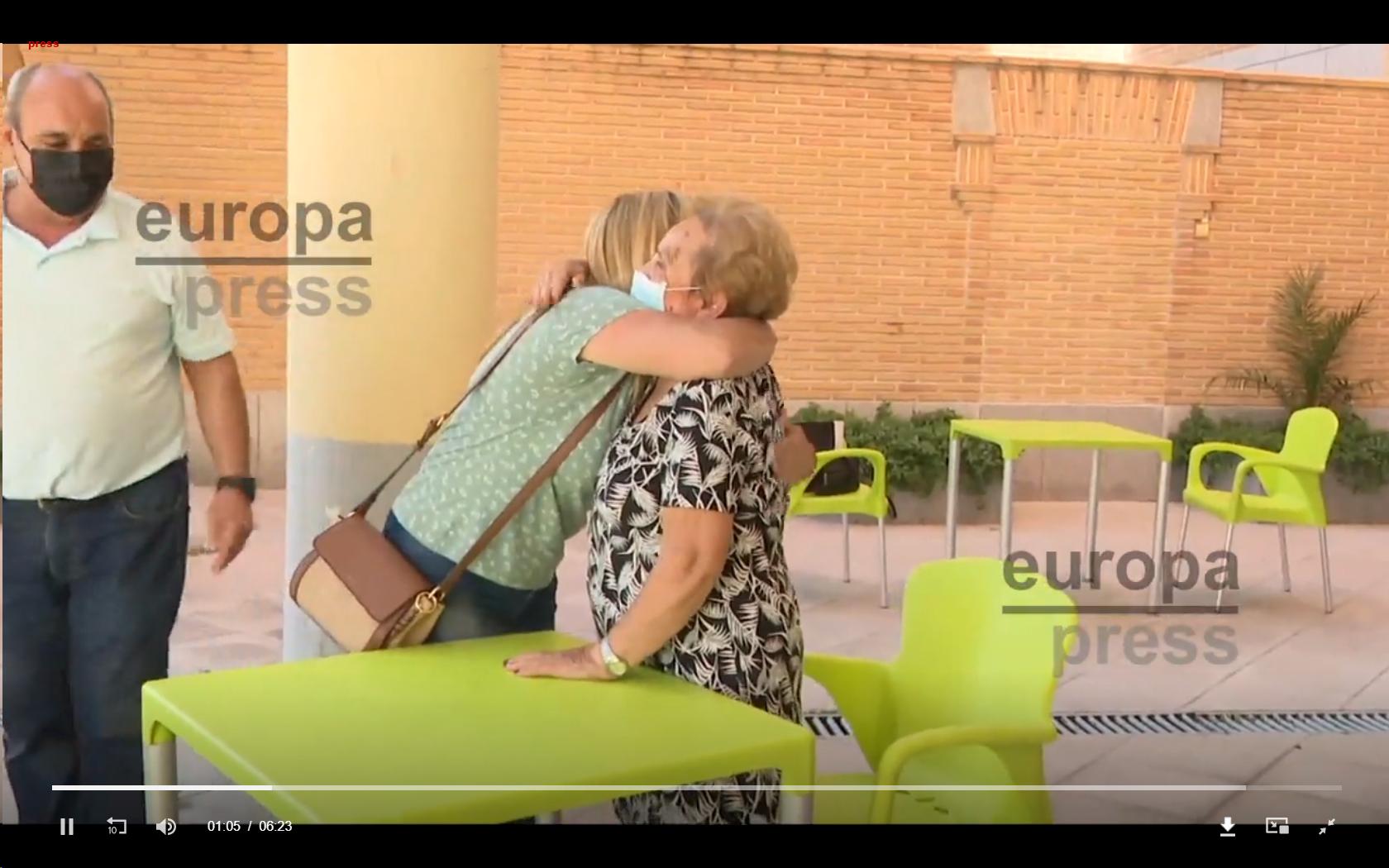 Residentes de Casaverde reciben «con los brazos abiertos» a sus familias
